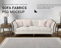 Living Room - Sofa Throw Pillows Wall & Carpet Set