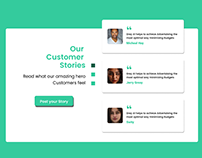 Testimonials for Landing Page - Customer Review