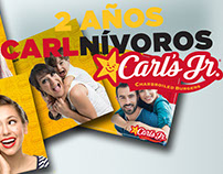 2 años Carlnívoros - Carl's Jr.