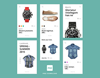 Shop UI Kit. FREE