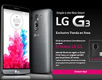 Landing de lanzamiento para el LG G3 en Colombia
