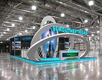 Surgut Oil Company booth. Rome.