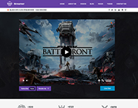 Twitch Streamer Portfolio Theme