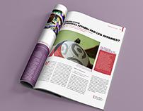Stratégies Magazine - mise en page