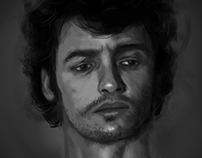 Black and white portraits l Digital painting