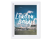 London Baby! Poster $16.00