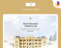 Hotel Alexander Medical & Spa Landing page design