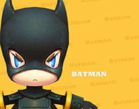 Batman 3D cartoon character design