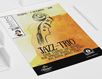 Jazz Trio at Louis Poster