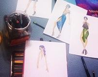 ilustraciones y figurines.