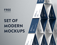 Dark Elements / Free set of modern mockups