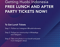 Huobi Indonesia Free Lunch Poster