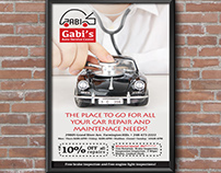 Car Mechanic Ad Design
