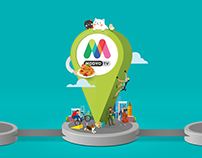 MODYO TV logo kurumsal kimlik ve yayın grafikleri