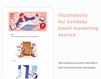 Illustrations for email marketing service