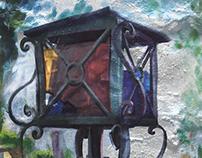 A broken lantern