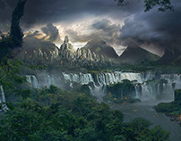 The Lost Temple - matte painting tutorial [FR]