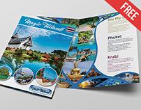 TOURISTIC BI-FOLD BROCHURE – FREE PSD BROCHURE TEMPLATE