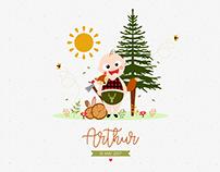 Arthur (Faire-part de naissance)