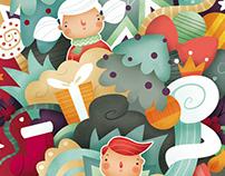 Dulce Navidad. Ilustración infantil
