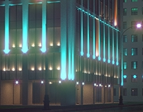 "Architectural illumination ""University"" Yekaterinburg"