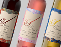 Open Book Wine Identity Brand & Packaging Design