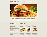 Fast food website design