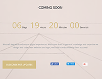 Coming Soon Page - Architect WordPress Theme