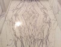 Badezimmer aus Statuario Marmor
