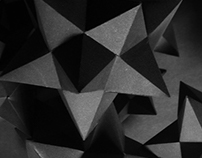 Dodecahedrons — paper sculpture