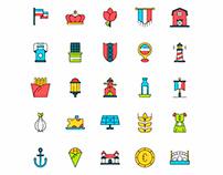Netherland Icons Set