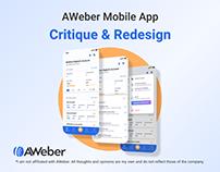 AWeber Stats App Critique & Redesign