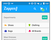 Zappos Android App - Material Design