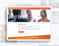 Fitness website design - Orange Theory