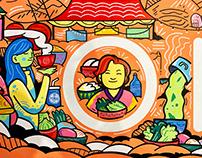 OISOI Food Market Mural