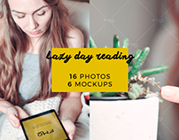 Lazy day reading: 16 photos + 6 mockups