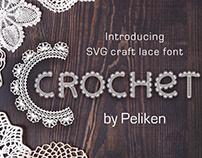 Crochet - svg craft lace font