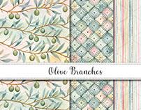 Green Olives Pattern Design