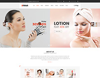 Shopify theme & Magento theme design for cosmetic store