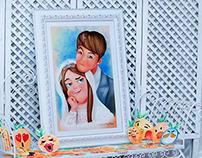 Princess get married / digital paint