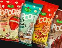 Karls Popcorn - Package Design