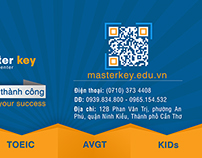 Master Key Edu - Label decal (Hộp khăn giấy)