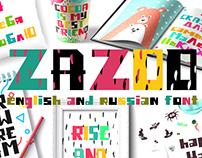 Zazoo - English and Russian font