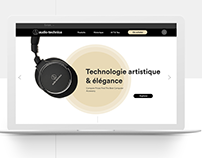 AUDIO-TECHNICA | Website Redesign Concept