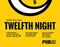 Twelfth Night Poster - Typography