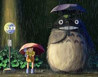 Overpainting - Studio Ghibli