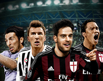 Sports Banner (AC Milan VS Juventus)