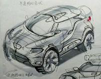 cute SUV design sketch