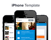 iPhone App Template. Blue.