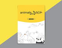 "Photo, design & layout menu for kids cafe ""Animals"""